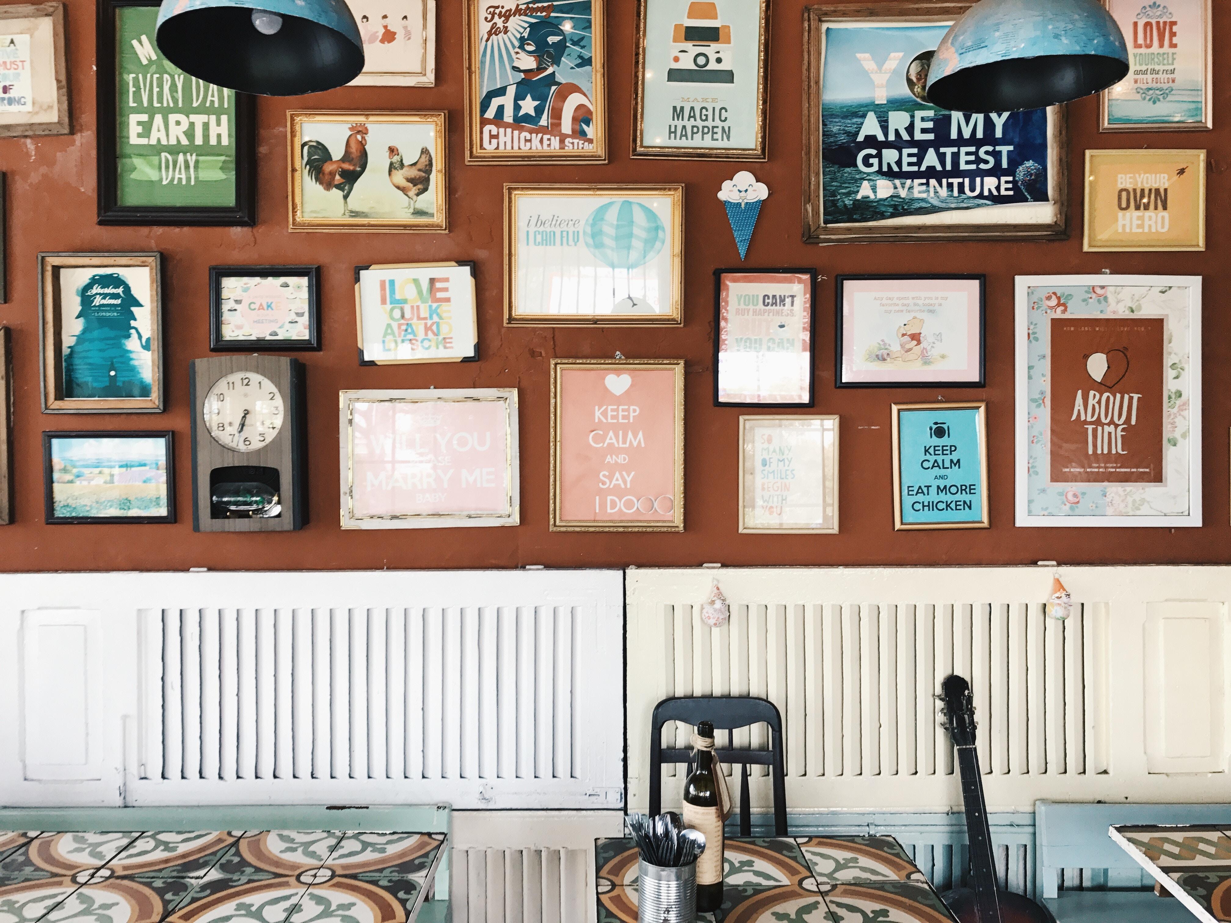 Posters in plaats van een gastenboek
