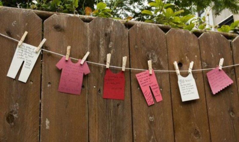 Leuk idee voor je gastenboek hang de vuile was buiten - Buiten idee ...