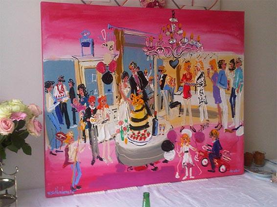 Coole idee n die je gezien moet hebben voordat je gaat trouwen schilderij van je bruiloft - Idee schilderij living ...