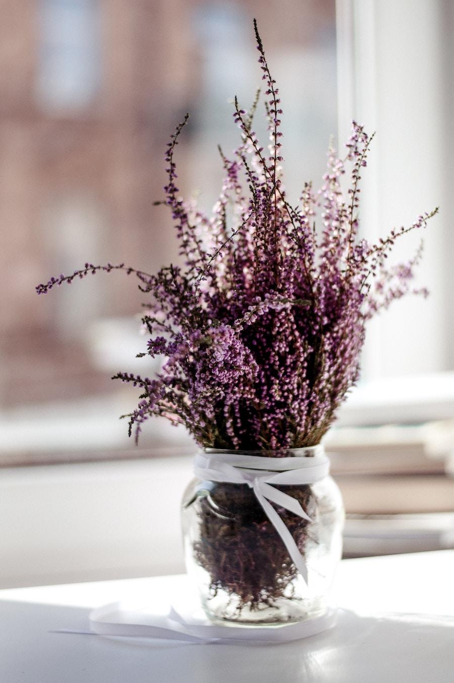 alternatief bruidsboeket lavendel