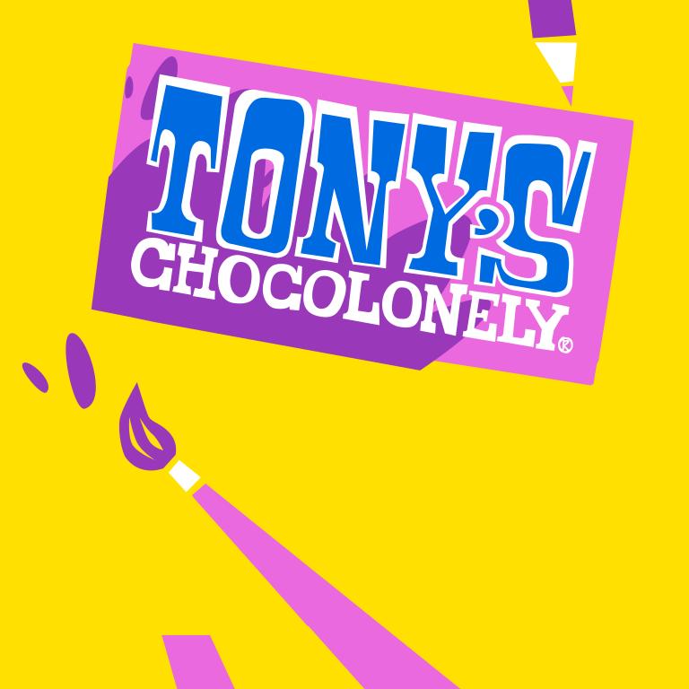 Eigen chocoladereep van Tony's Chocolonely