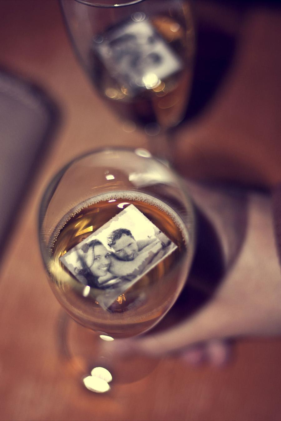 foto's in je champagne