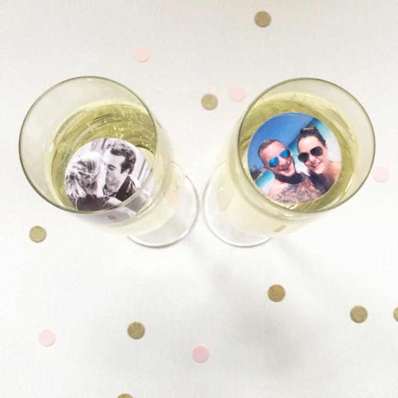 champagnefoto's bruiloft