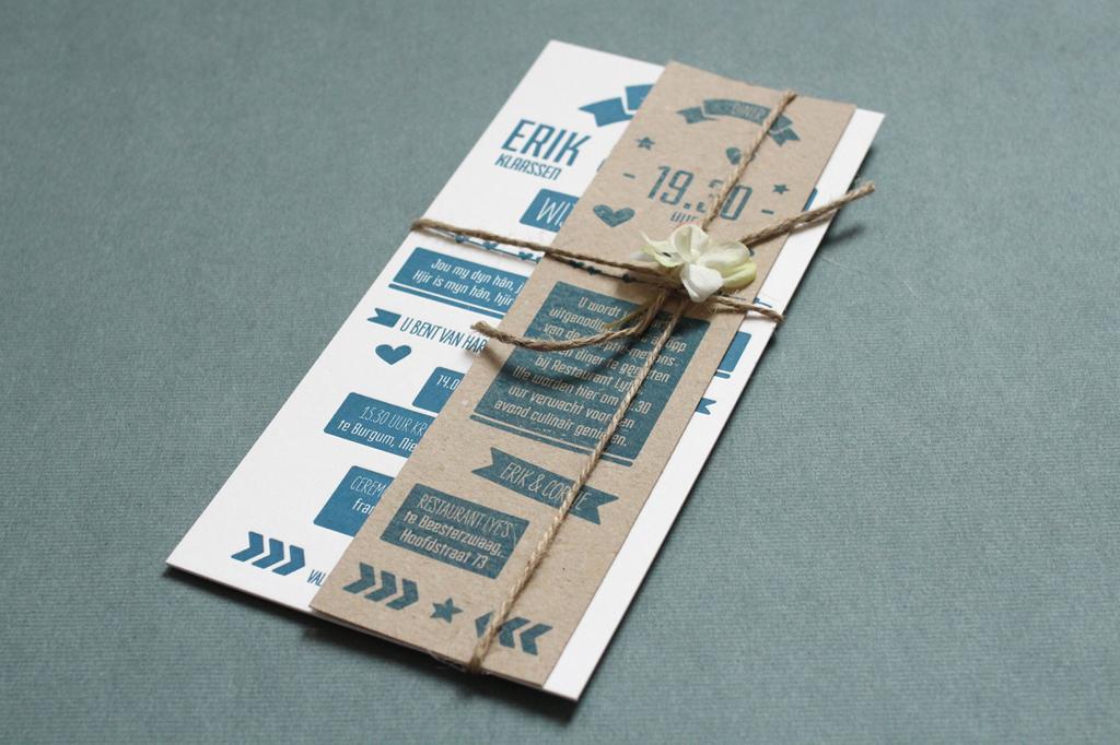 IkBlijfJeTrouw-LetterpressKaart Erik&Corrie