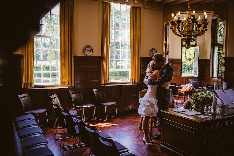 Korte trouwjurk bij Assepoester in Arnhem
