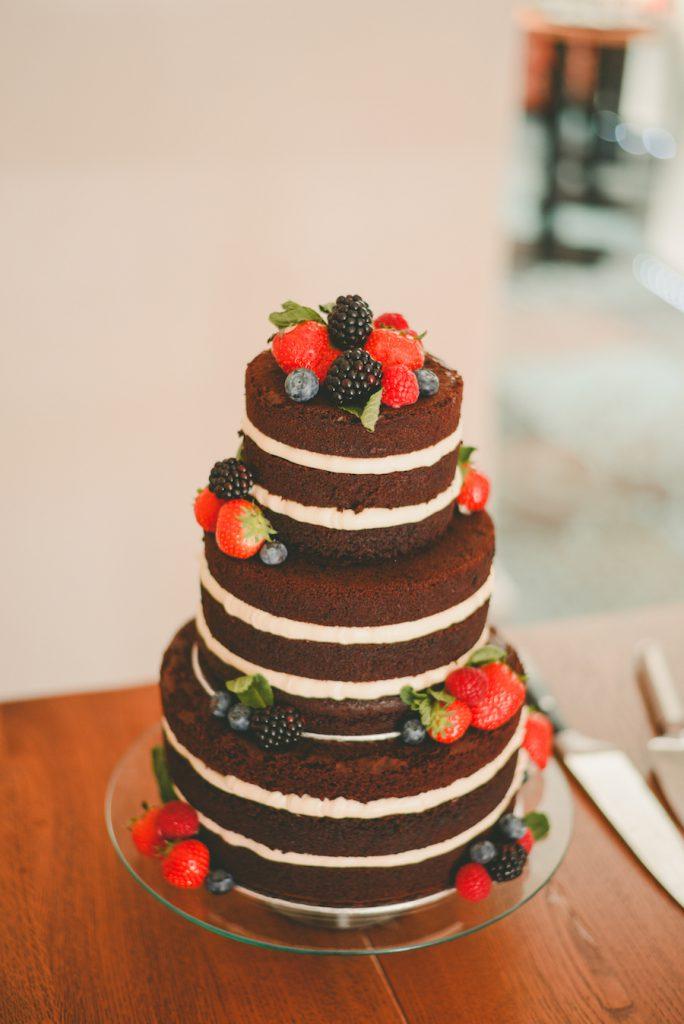 bruidstaart chocolade fruit