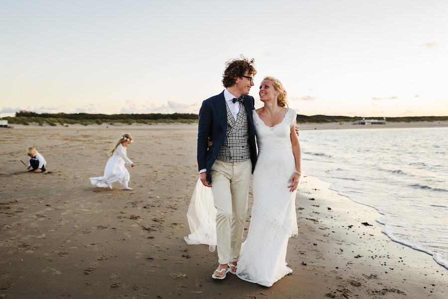 Marjolein vond de ideale bohemian trouwjurk voor op het strand