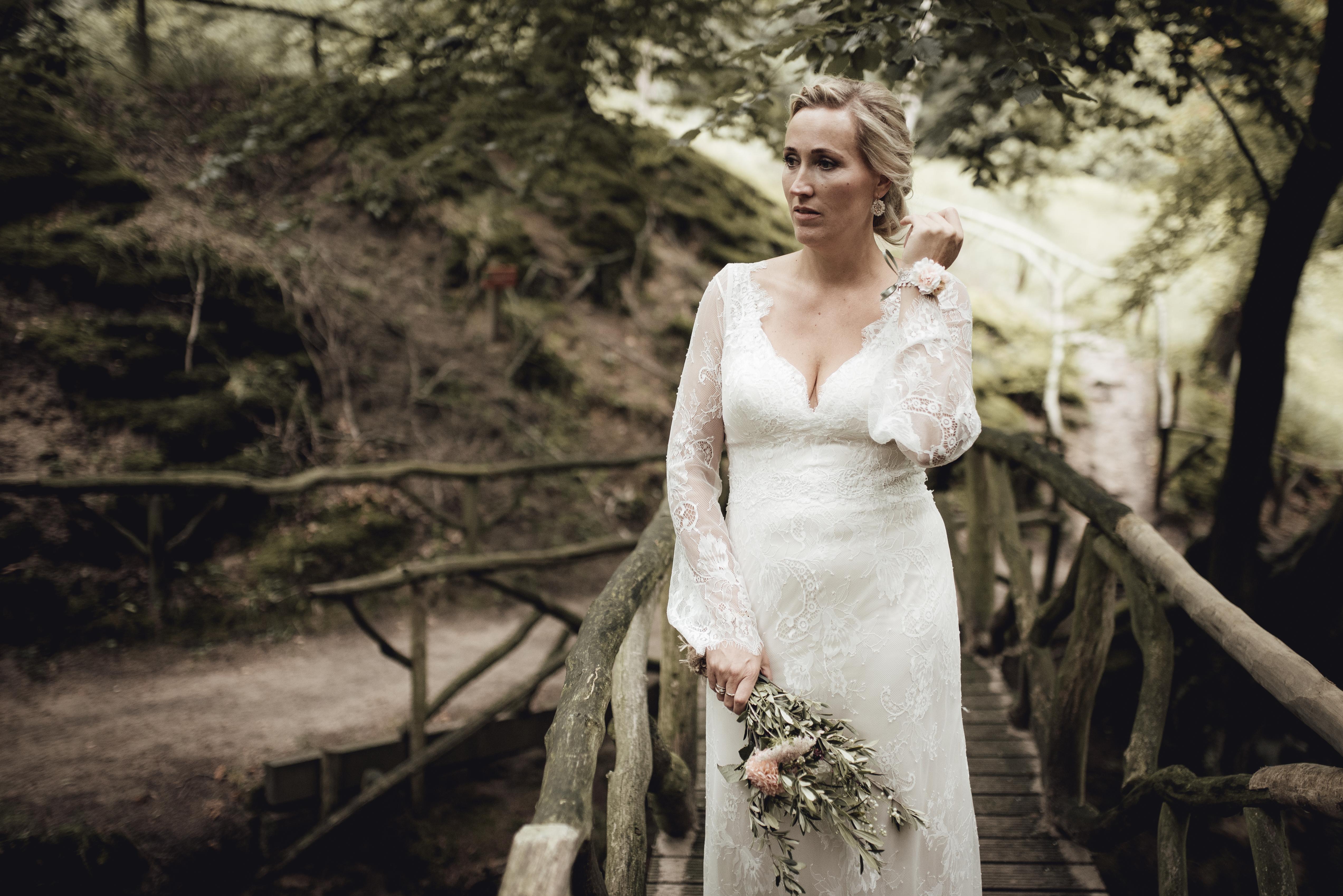 bohemian trouwjurk lange mouw