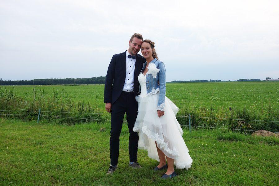 Perfecte match: trouwjurk die voor kort en achter lang is