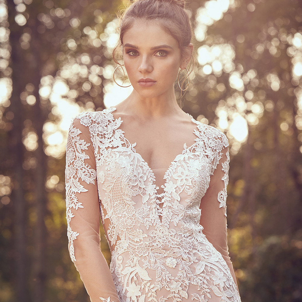 Trouwjurk met mouwen bruidsmode 2020