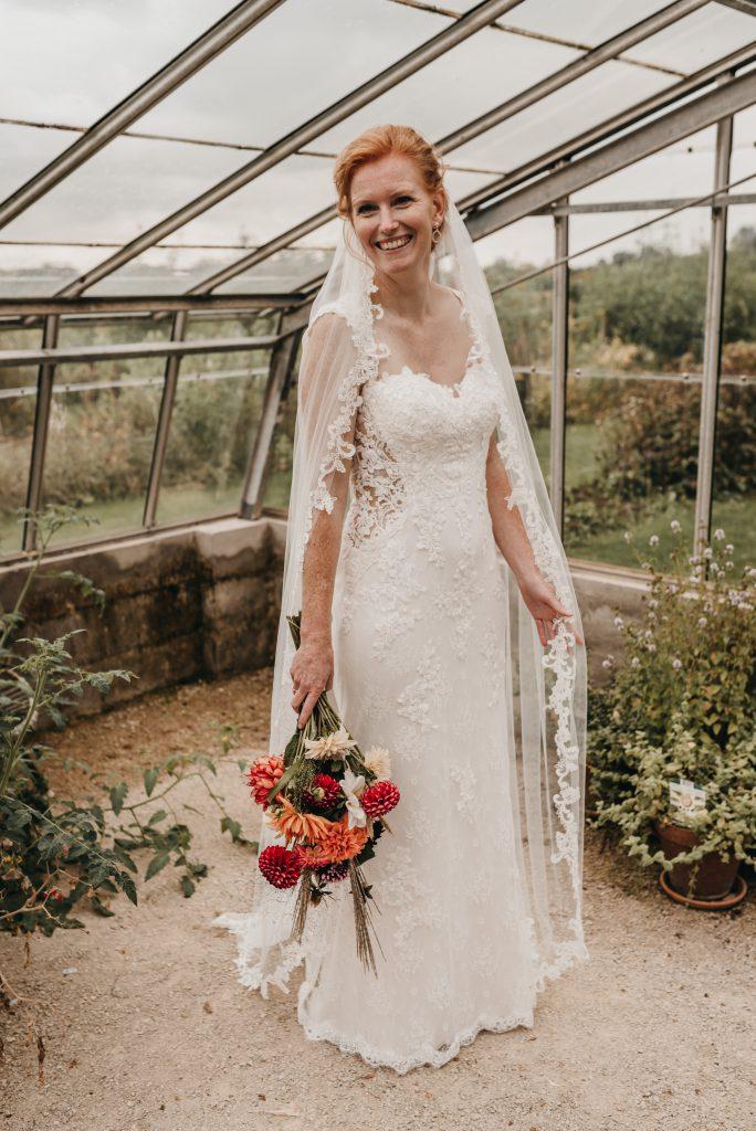 Renate trouwjurk in vintage stijl Assepoester